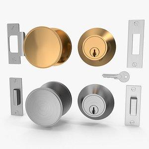 3D knob set door