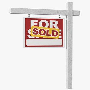 3D For Sale Sign Sold model