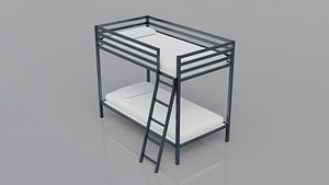 Doshie Metal Twin Bed 3D model