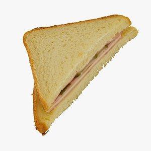 3D ham cheese sandwich 01