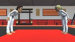 karate dojo 3D model