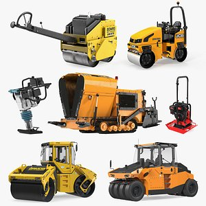 3D Rigged Road Compactors Collection 5