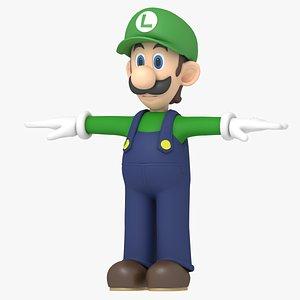 3D model luigi character