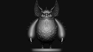 3D monster print model