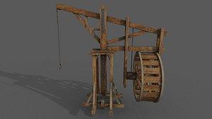 Medieval Crane 3D model 3D