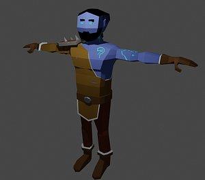 style dark elf druid 3D model