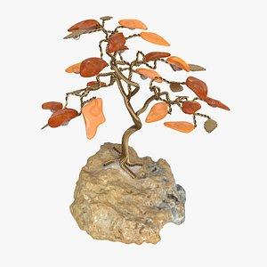 3D Amber Gemstone Tree 01 model