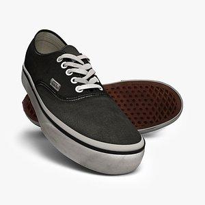 Vans authentic sneakers - USED LOOK 3D model