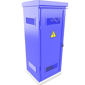 3D Outdoor Electrical Enclosure Cabinet 3D Model 33