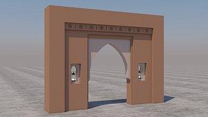 3D model traditional moroccan door marrakech