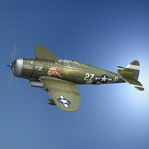 3D Republic P-47D Thunderbolt - Squirt II model