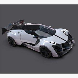 ?? 3D FUTURISTIC CONCEPT SPORT CAR ?? 3D model