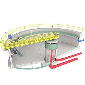 Sewage Treatment Plant Inside Diagram 1 3D model