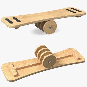 3D balance board roller