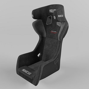 Sparco ADV ELITE Sports Racing Seat Suede 3D model