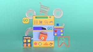 Cartoon symbols 3D