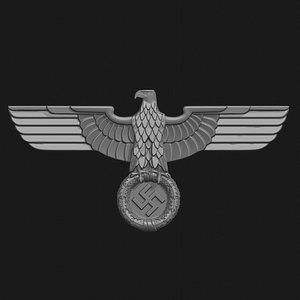 3D wwii badge eagle