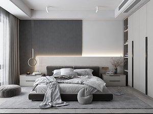 Modern Style Bedroom - 519 3D model