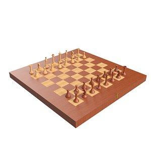 3D chess backgammon model