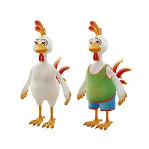 3D model rooster