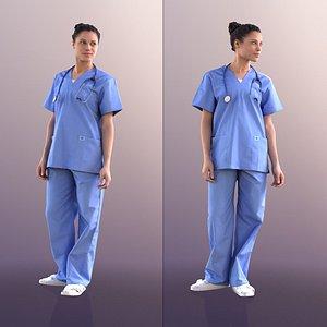 3D 10896 Diana - Nurse Standing model