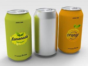 3D Soda Can model