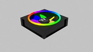 rgb fan rainbow computer 3D model