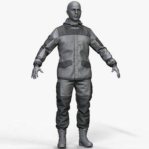 gorka uniform military 3D model