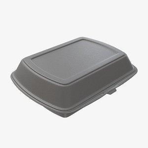 box lunch polystyrene 3D