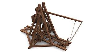 Medieval Trebuchet 3D model