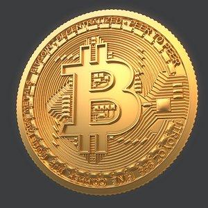 bitcoin coin bit 3D