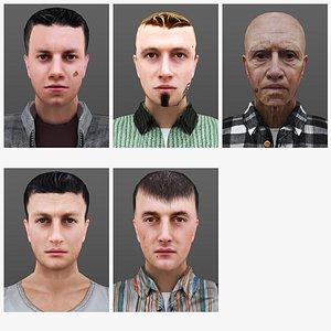 3D MAN 1 TO 5