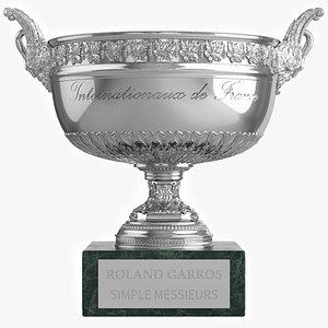 3D Roland Garros Trophy Musketeers Cup model