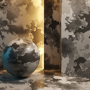 Layered wall paint 3D model