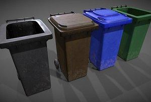wheelie bins 3D