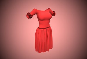 woman unwrapped 3D model