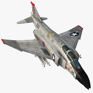 3D F4 B NAVY Phantom II Red Rippers VF-11 model