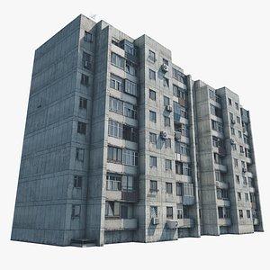 Khrushchyovka 50-Letiya Magnitki 67 3D model
