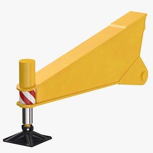 crane outrigger 04 yellow 3D model