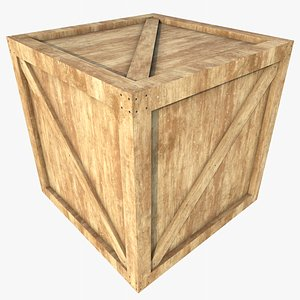 Wooden Crate 6 With PBR 4K 8K 3D model