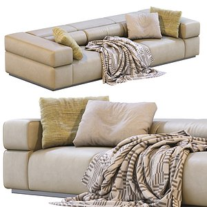 Leather Sofa BRICK LANE By Lema 3D model