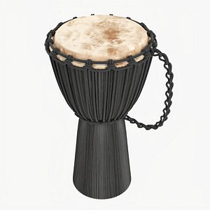 3D model Djembe percussion instrument