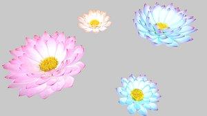 waterlily flower 3D model