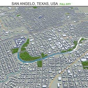 3D San Angelo Texas USA