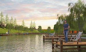 3D Fishing pond