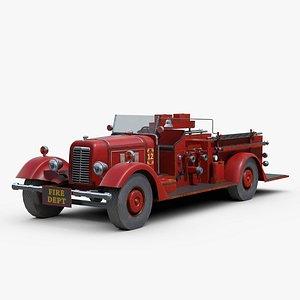Vintage Firetruck 3D model