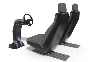 3D Vehicle Control Panel and Seat
