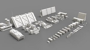 sci fi industrial objects 2 model