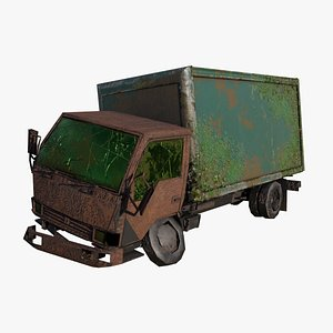 3D Broken Truck model