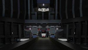 3D Sci-fi scenario capsule spacecraft space